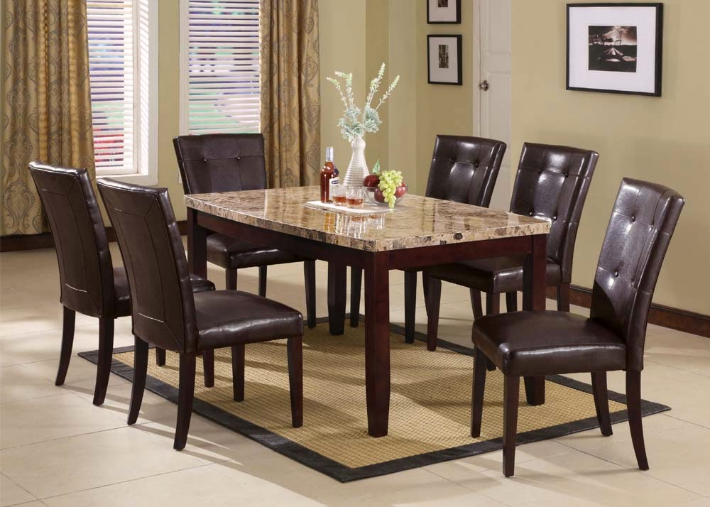 Remarkable Marble Top Dining Room Furniture Images -house