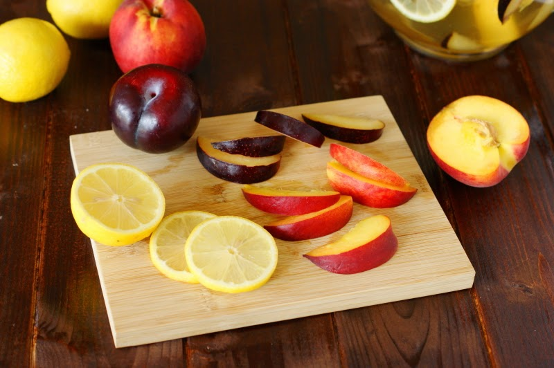 White Sangria with Nectarines, Plums, & Lemons - The Kitchen is My ...
