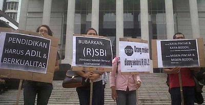 RSBI dan SBI akan dibubarkan