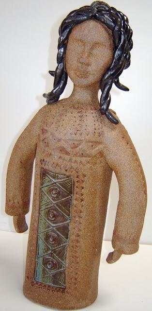2 Headed Native Figure