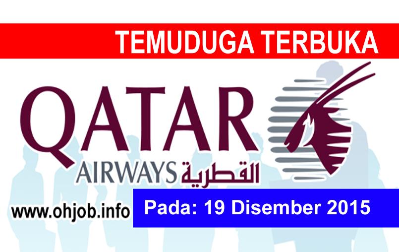 Jawatan Kerja Kosong Qatar Airways logo www.ohjob.info disember 2015