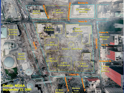 World Trade Center Site After 9-11 Attacks
