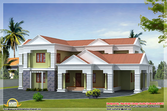 2350 square feet slop roof home design