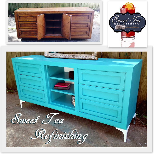 Sweet tea refinishing using the Finish Max