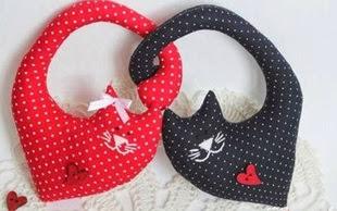 Reto - nº 067 gatos de tela en forma de corazón