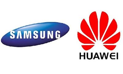 هواتف هواوي و سامسونج samsung vs huawei