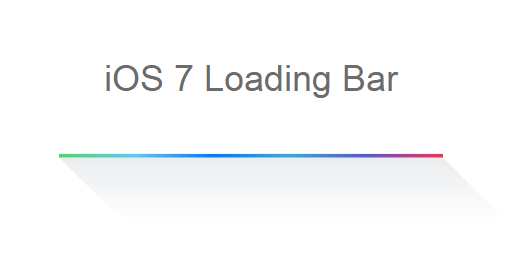 iOS7 Loading bar for blogger