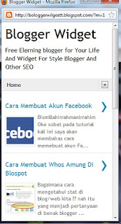 Blogger Widget On Mobile Device