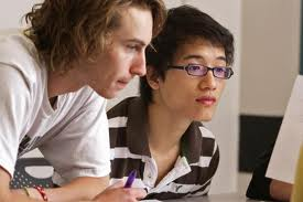 students learning in online environment