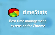 timeStats extension for Google Chrome