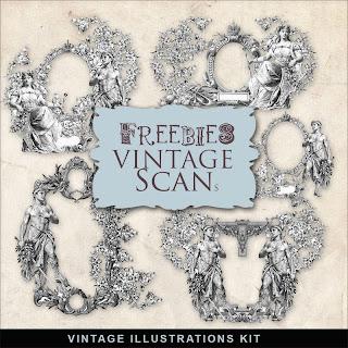 Scrapbook Freebie Vintage Vignettes by farfarhill