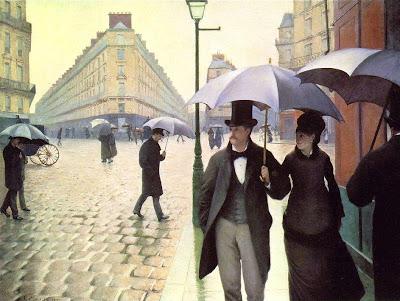 Parigi in un giorno di pioggia quadro di Gustave Caillebotte