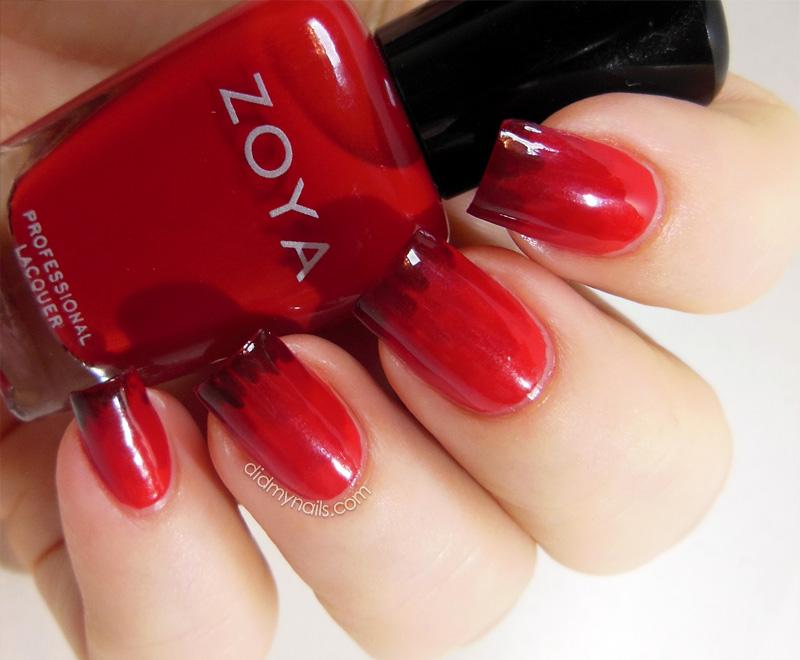garnet red nails