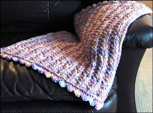 Knitted Doll Blanket Pattern : Knitting With Looms: Olivias Doll Blanket