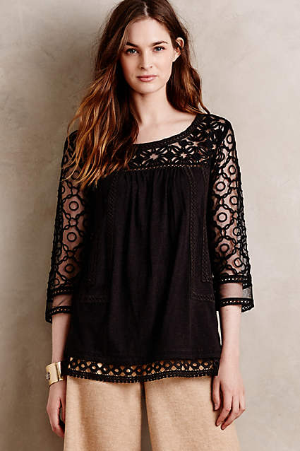 anthropologie mantra lace tee on sale meadow rue