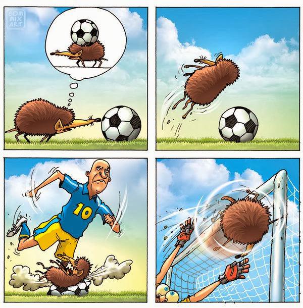 ежик на футболе