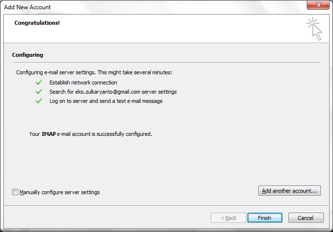Bagaimana cara menambahkan gmail ke microsoft outlook