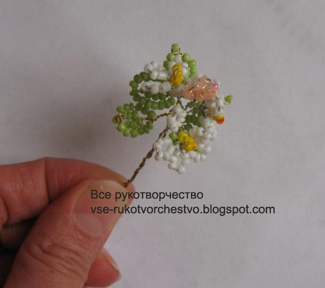 Цветущее дерево яблоня из бисера. Мастер-класс
