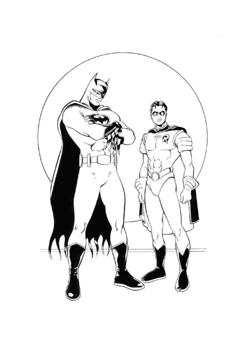 batman and robin coloring pages printable - batman and robin hood coloring pages for kids disney