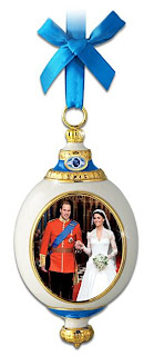 William And Kate Royal Wedding Heirloom Porcelain Ornament