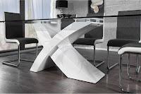 luxusny jedalensky stôl so kslenenou doskou, moderny jedalensky stôl, moderne jedalne