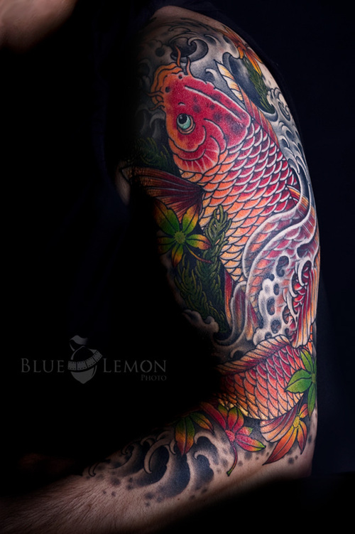 Tattoos all entry design images japanese koi fish arm tattoo for Japanese coy fish tattoo
