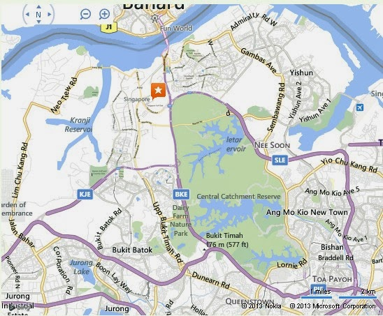 Detail Singapore Turf Club Location Map – Tourist Map Of Singapore City