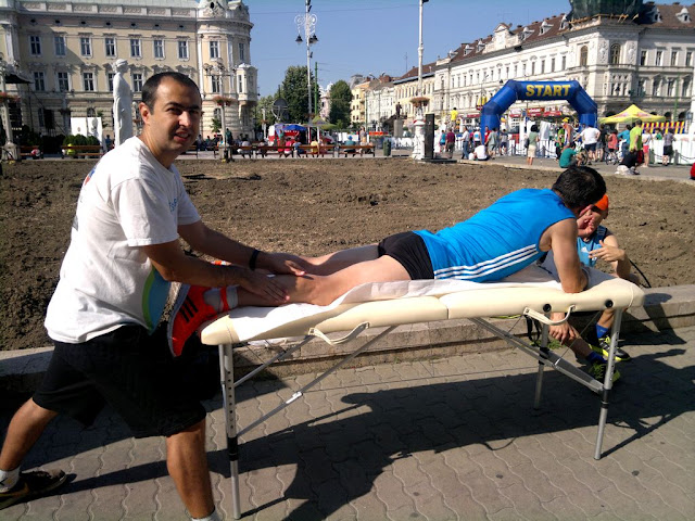 Maseur oficial la Maraton Arad 2015. O nouă participare, un nou rol, acelaşi eveniment frumos de alergare. Timişoara se mişcă la Arad