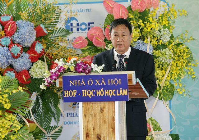 Ông Nguyễn Ngọc Thạch – Giám đốc Quỹ Phát triển Nhà ở TP.HCM giới thiệu về Nhà ở xã hội HOF-HQC Hồ Học Lãm