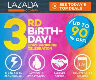 Lazada Celebrates Its Third Year With A 3-Day Sale