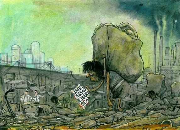 Martin Rowson: Garbage picker.