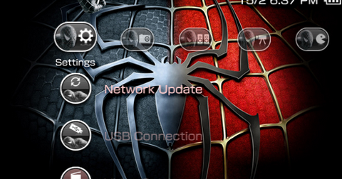 Psp Wallpapers And Themes Free Download Free PSP Theme: Spider...
