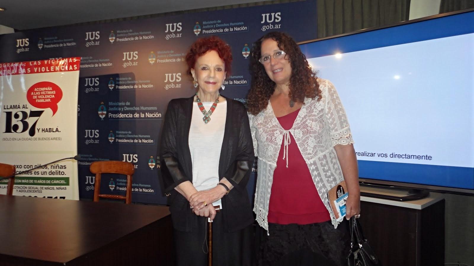 Maria Elena Naddeo y Eva Giberti