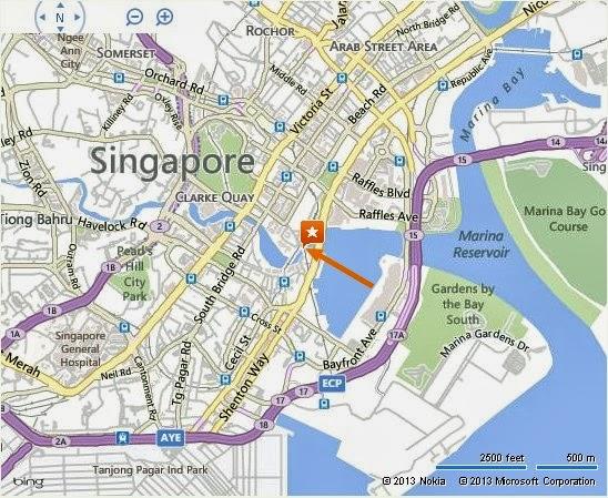 Detail Anderson Bridge Singapore Location map Alexandra Meier