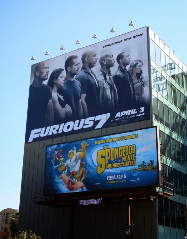 Furious 7 movie billboard