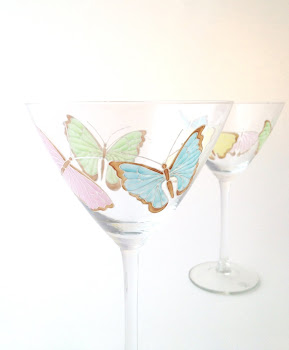 Butterfly Cocktail Glasses