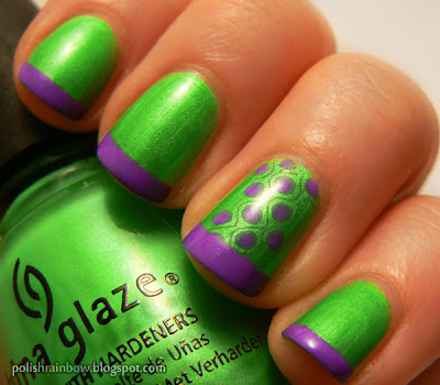 China Glaze I'm With The Lifeguard. Chi Chi Capital H.I.M. Stamping plate BM209.