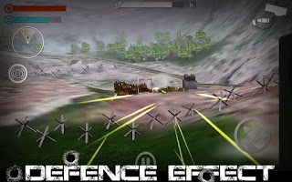 Screenshots of the Defence Effect for Android tablet, phone.
