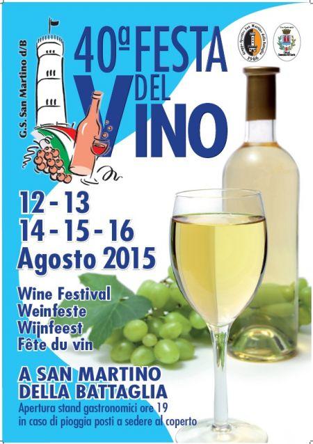 festa del vino dal 12 al 16 agosto san martino della battaglia