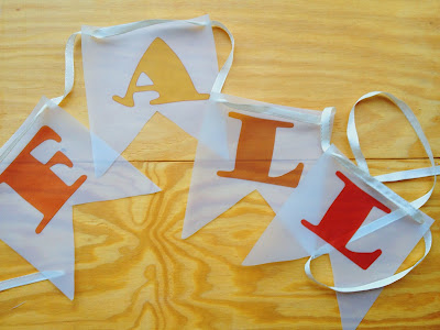 diy vellum fall banner