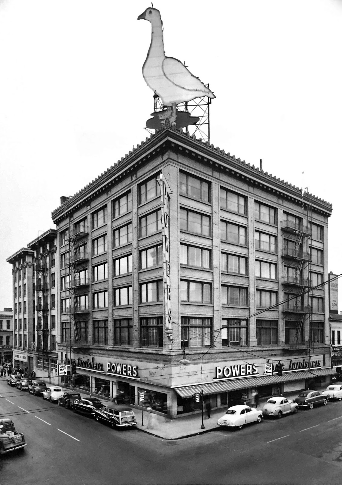 The Powers Furniture Company Goose Sign Atop Their Flagship Store At Third  And Yamhill. Fifty Feet High And Weighing 7,000 Pounds, It Was A Downtown  ...