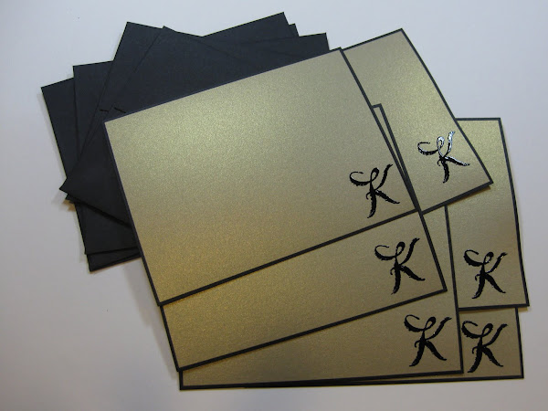 Simple, Elegant Notecards with Bordered Card Flats