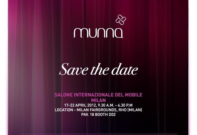 Munna design no Salão do móvel de Milão
