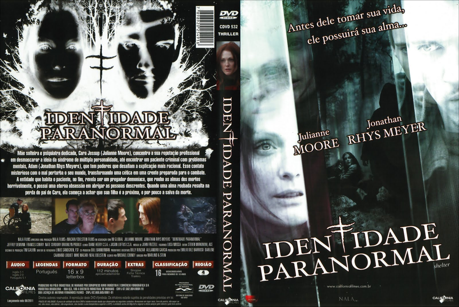 Capa do Identidade Paranormal Blu ray Dublado Torrent + MEGAfilmes
