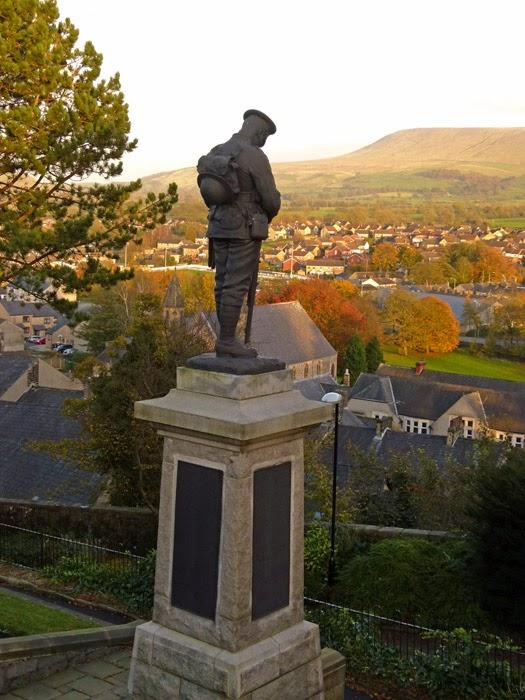 Clitheroe, war memorial, Lancashire