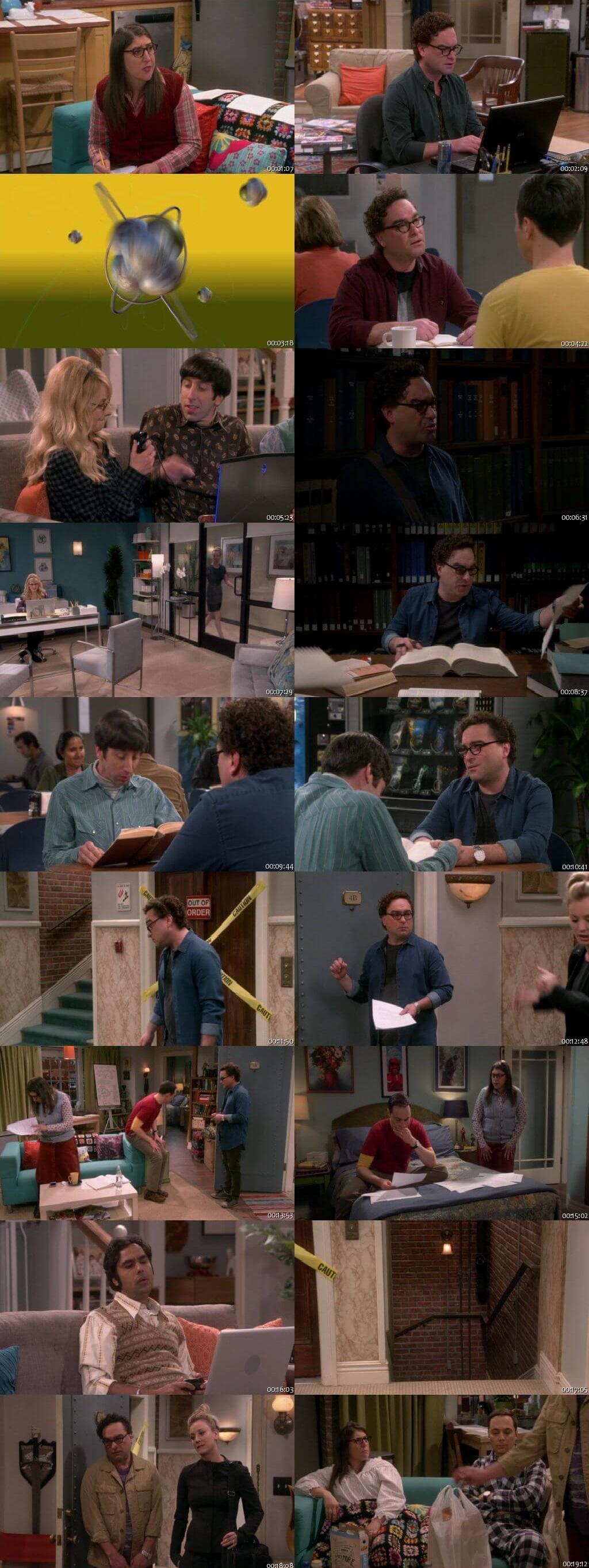 Screenshots Of English Show The Big Bang Theory Season 12 Episode 09 2018 WEB-DL 720P ESubs 300MB
