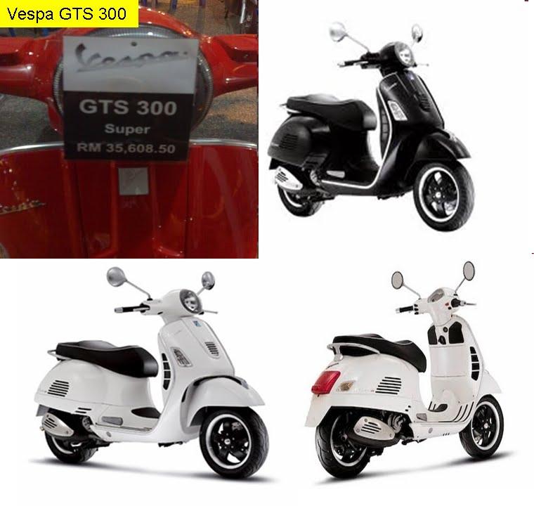 GTS 300 (RM35,900). GTS 300 warna merah, hitam dan putih title=