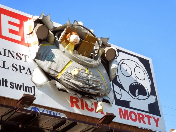 Crashed UFO Rick and Morty special 3D billboard