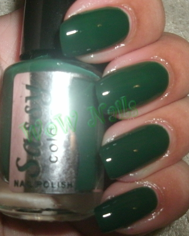 On My Nails Are 3 Thin Coats Of Jungle Green Its Pretty Sheer Because Jelly Creme Formulation But The Shine It Gives Off Even Without Top