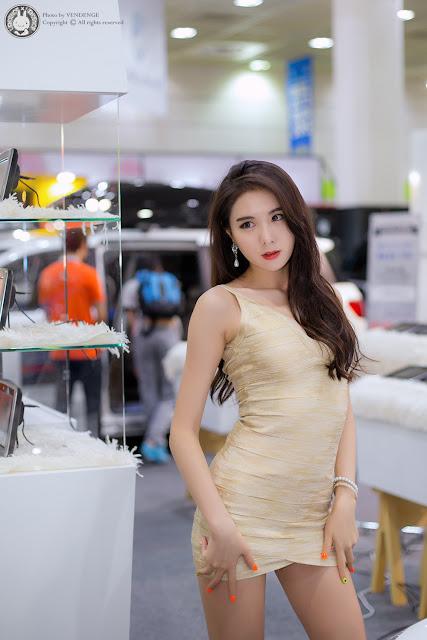 4 Min Yu Rin - 2015 Seoul Auto Salon - very cute asian girl-girlcute4u.blogspot.com